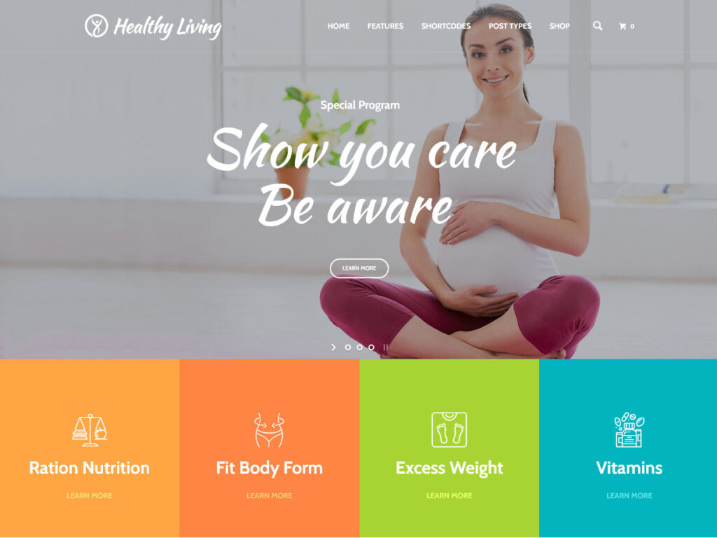 Healthy Living Diet and Livestyle WordPress Theme