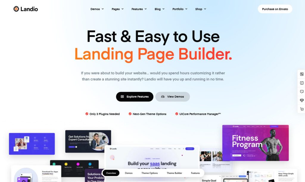 Landio Multi Purpose Landing Page WordPress Theme