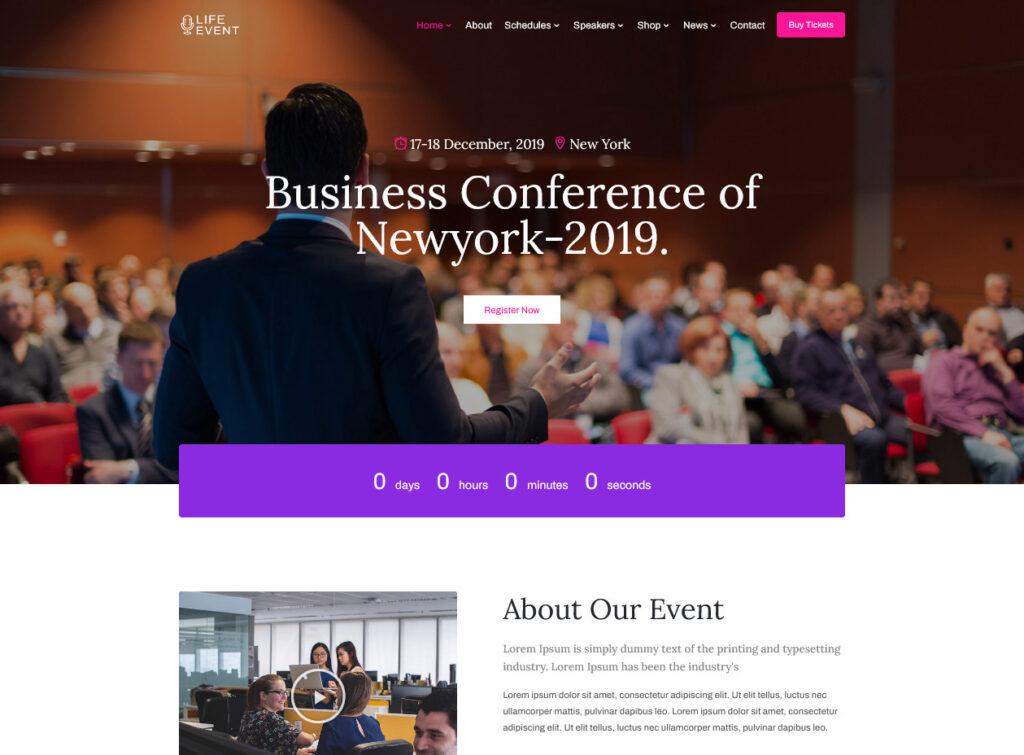 Lifevent – Conference Event WordPress Theme