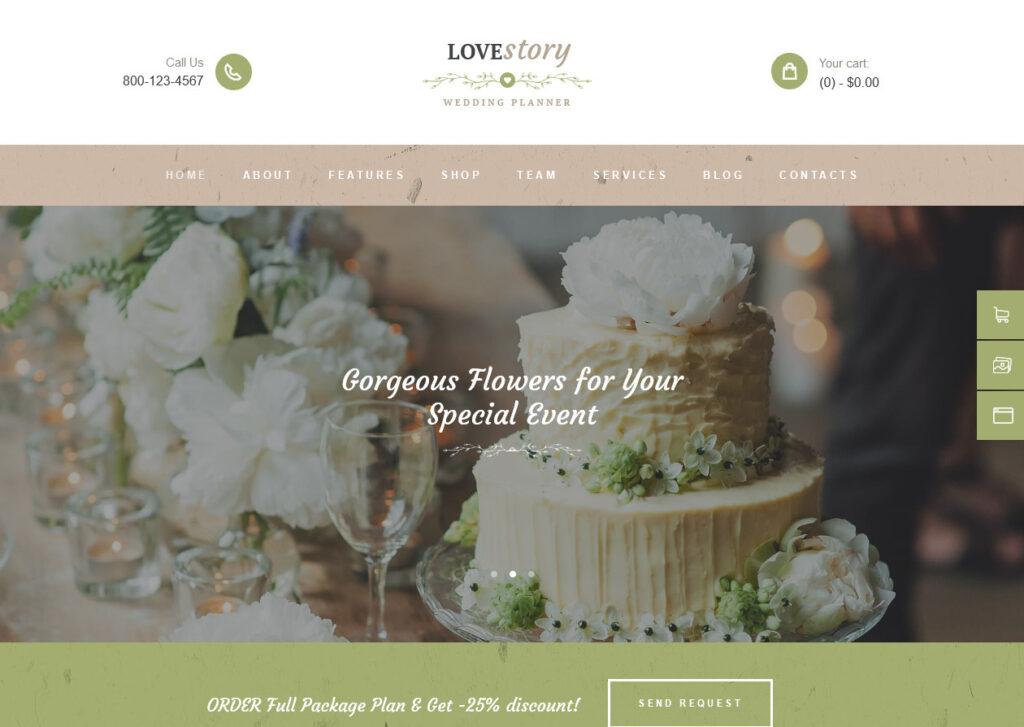 LoveStory – Wedding Planner or Event Planner WP Theme
