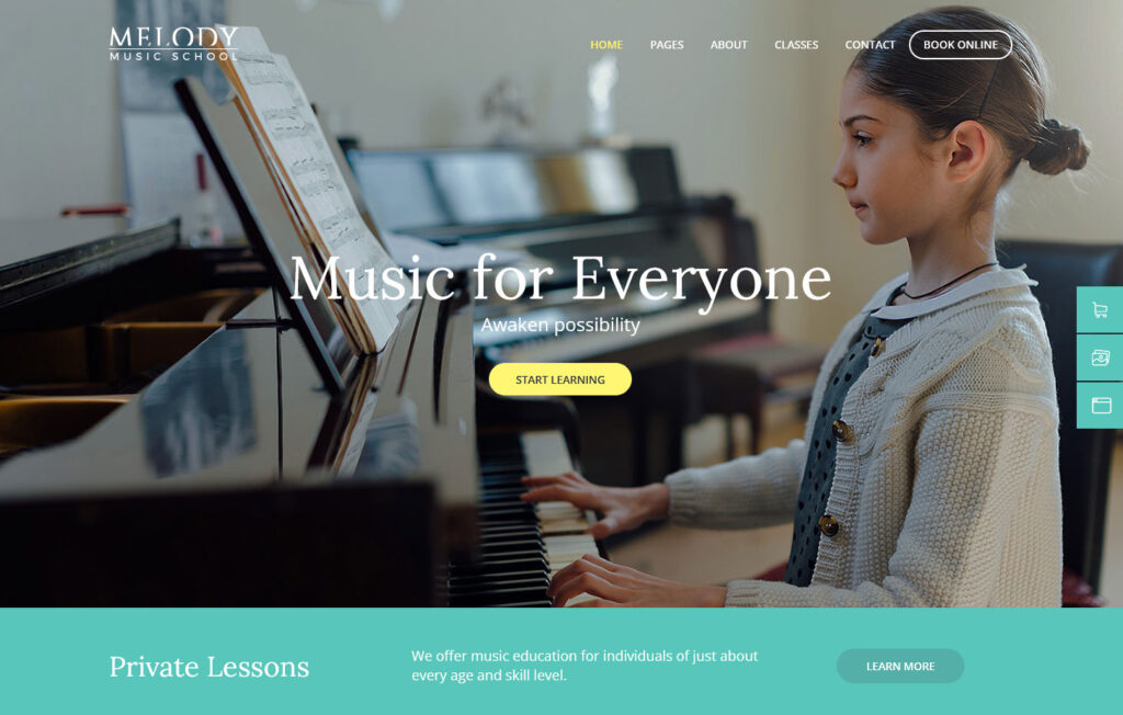 Melody Arts Music School WordPress Theme