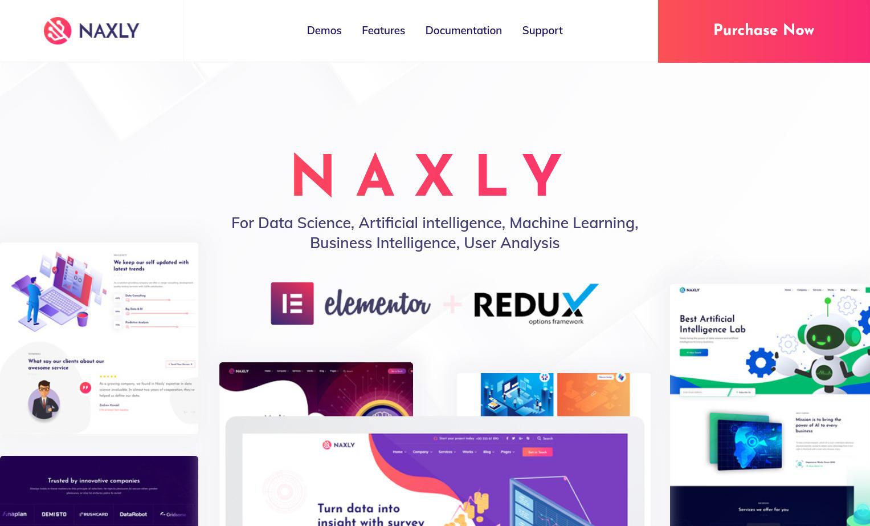 Naxly WordPress Theme for Data Analytics Websites