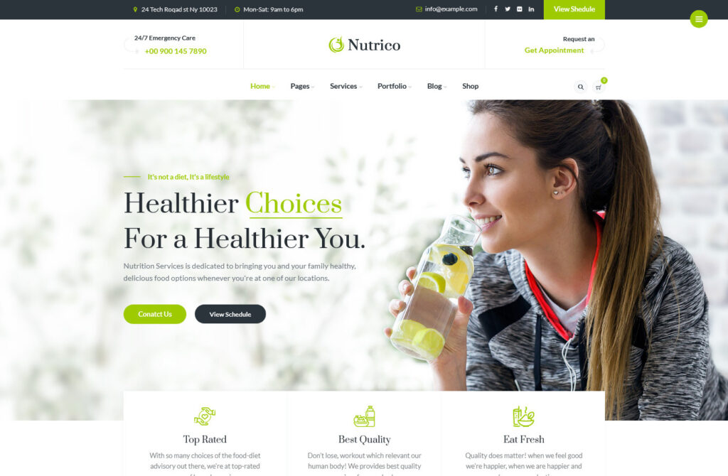 Nutrico Nutrition Health Services WordPress Theme