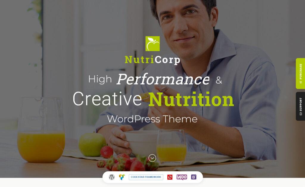 Nutricorp Nutrition Health Creative WordPress Theme