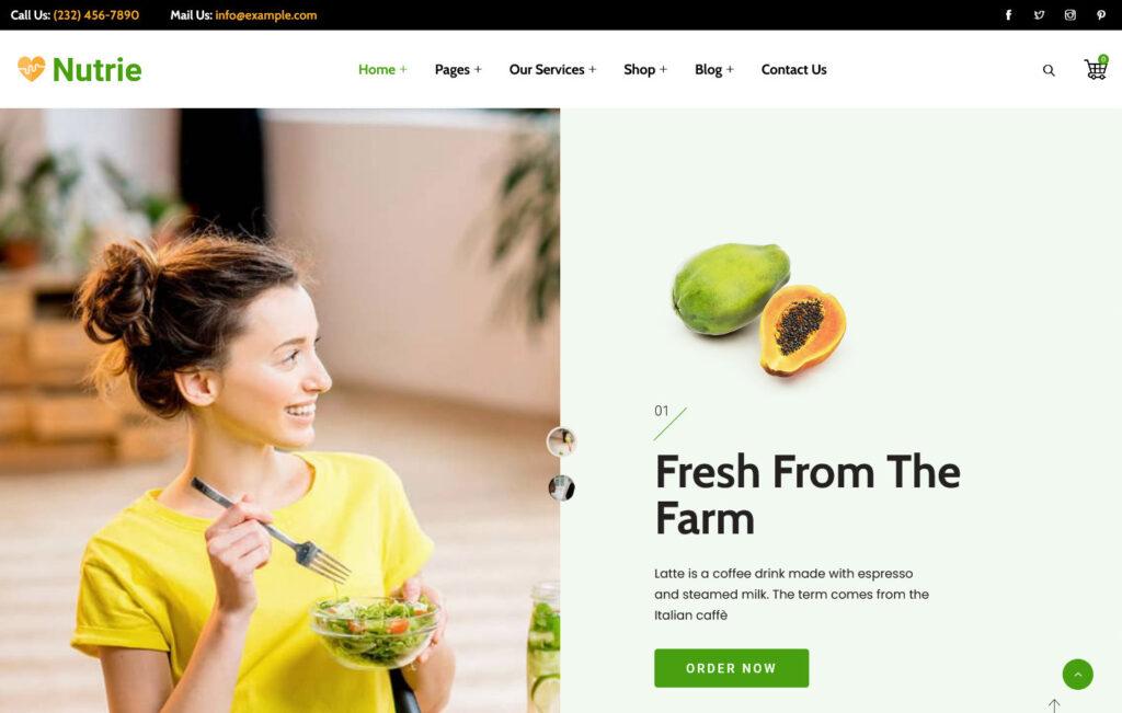 Nutrie – Health Coach and Nutrition WordPress Theme