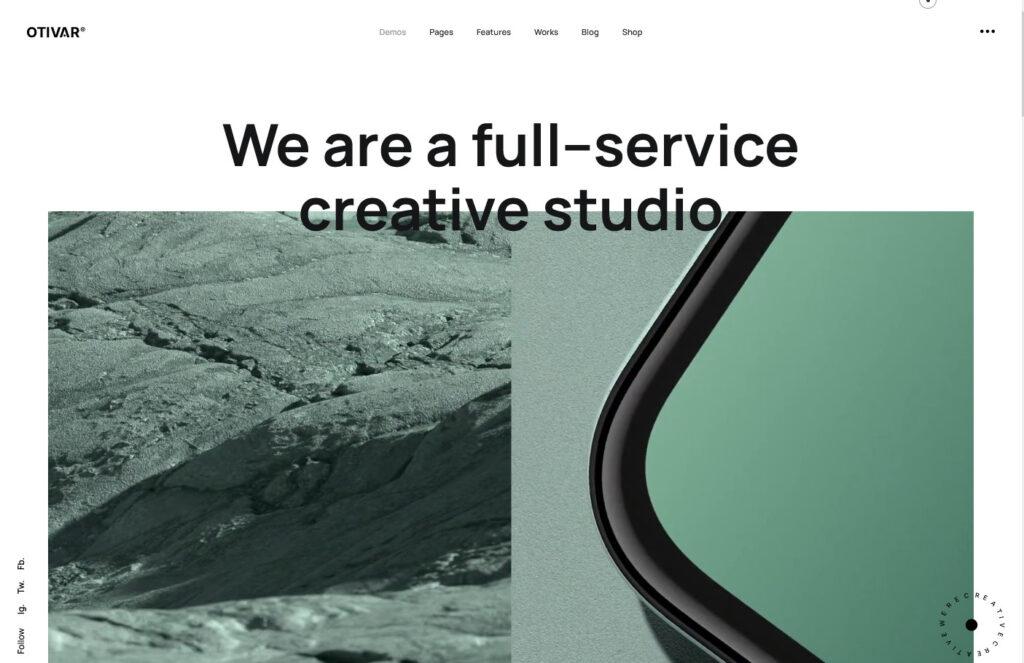 Otivar Portfolio Theme for Creatives
