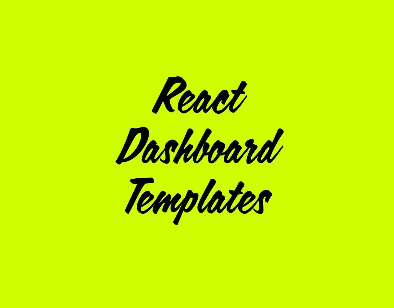 React Dashboard Templates