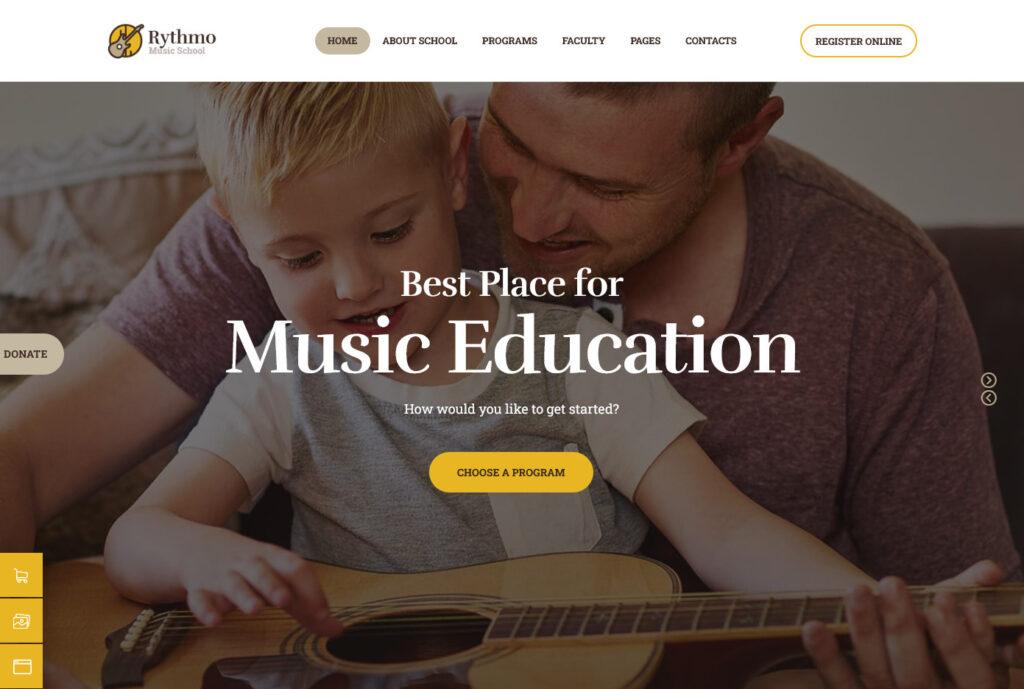Rhythmo Arts Music School WordPress Theme