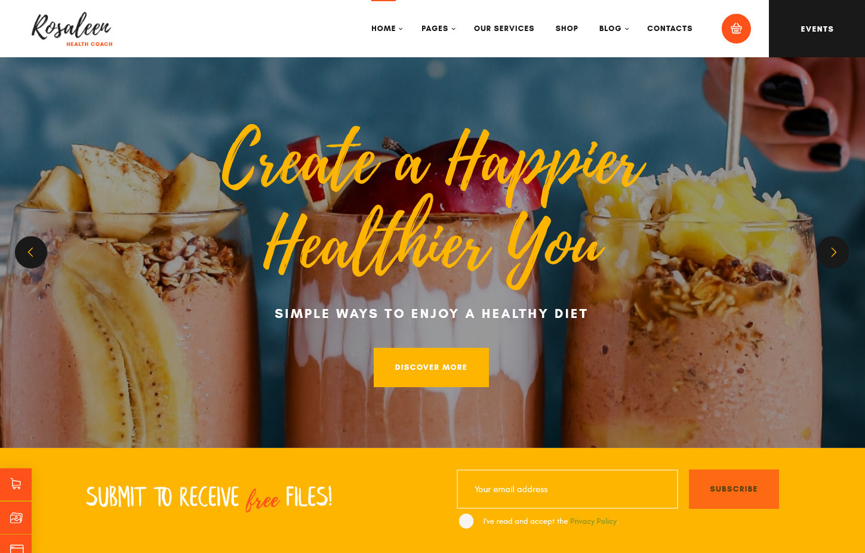 Rosaleen Health Coacher WordPress Theme him