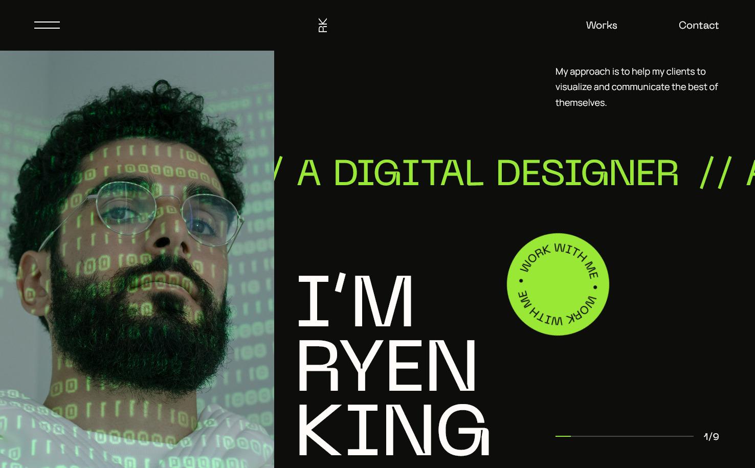 Ryen King Personal CV Resume WordPress Theme