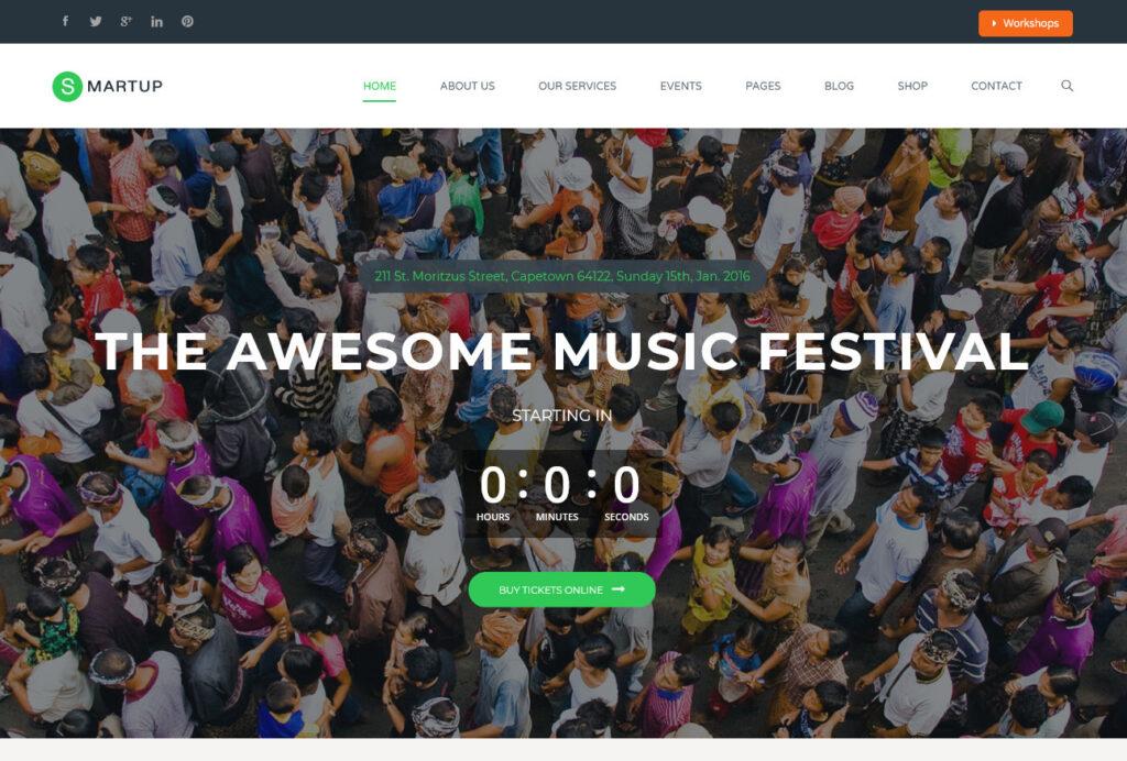 Smartup – Events WordPress Theme