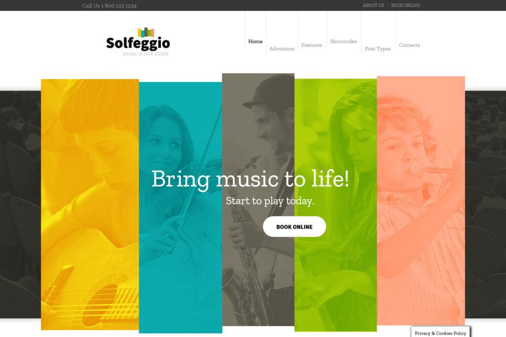 Solfeggio Premium Powerful Music School Theme