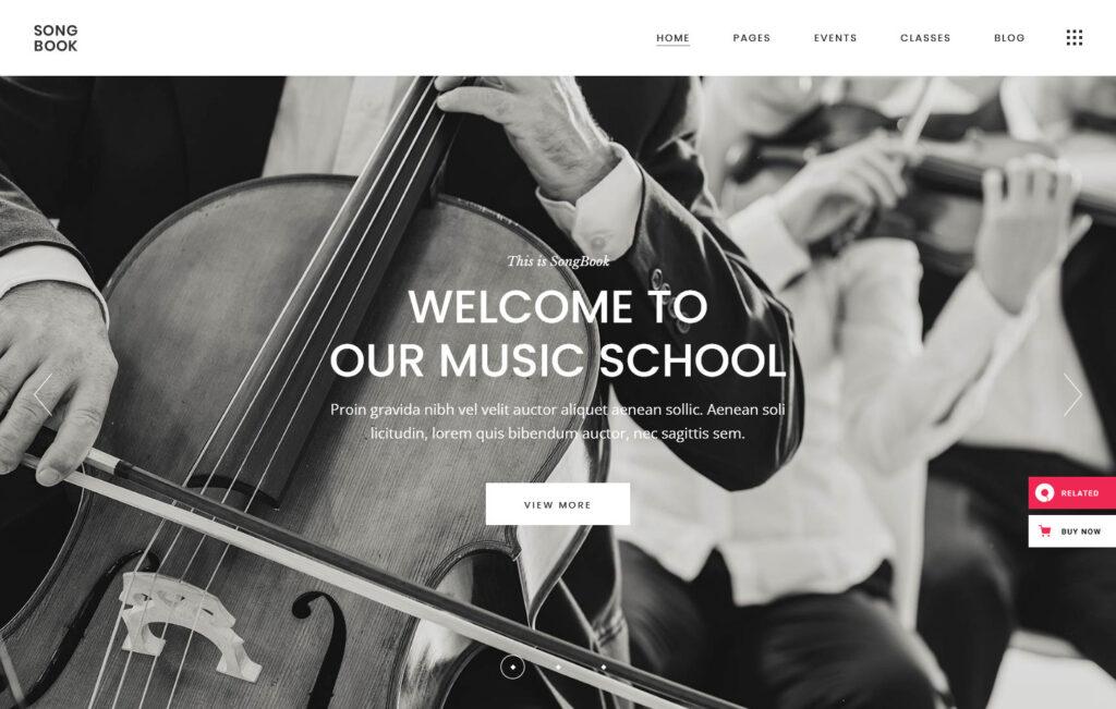 SongBook – Music School Theme