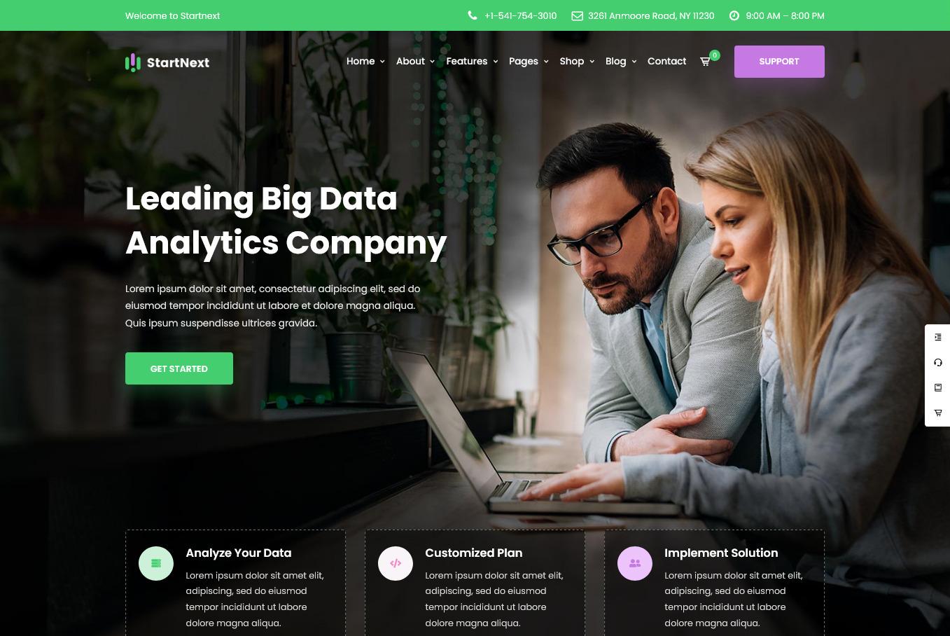StartNext WordPress Theme for Data Crunchers