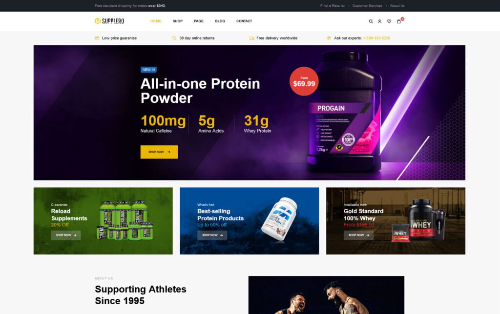 Supplery Dietary Supplements WordPress Theme
