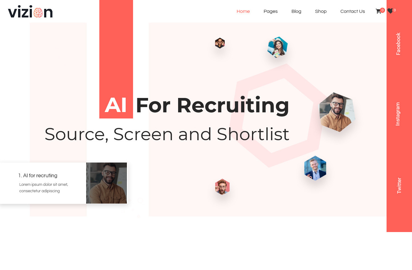 Vizion Multi Faceted AI and Machine Learning WP Theme