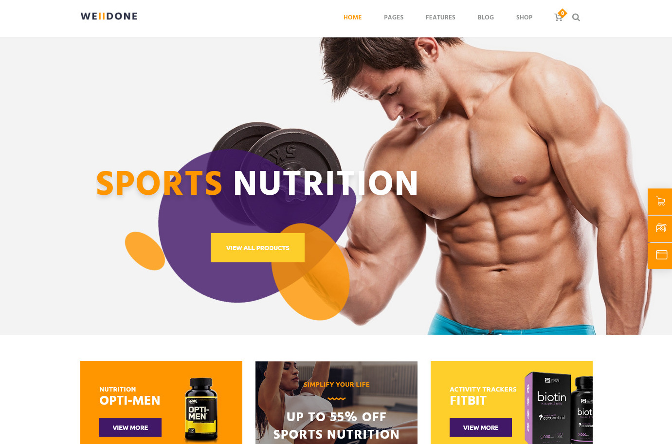 Welldone Sports Nutrition and Diet WordPress Theme