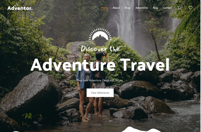 Adventor Discover the Best Adventure Travel WordPress Themes Around