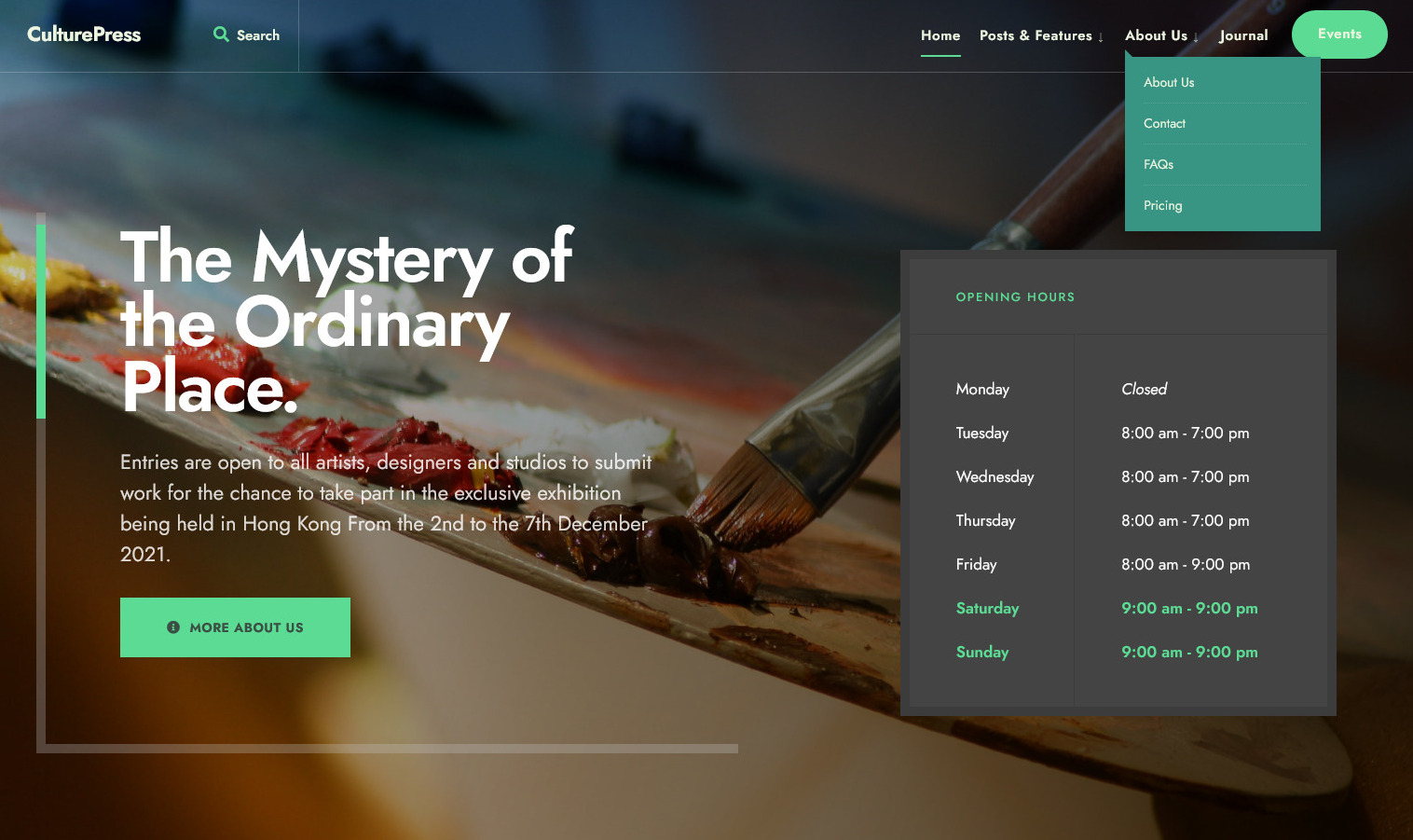 CulturePress Arts and Culture WordPress Theme