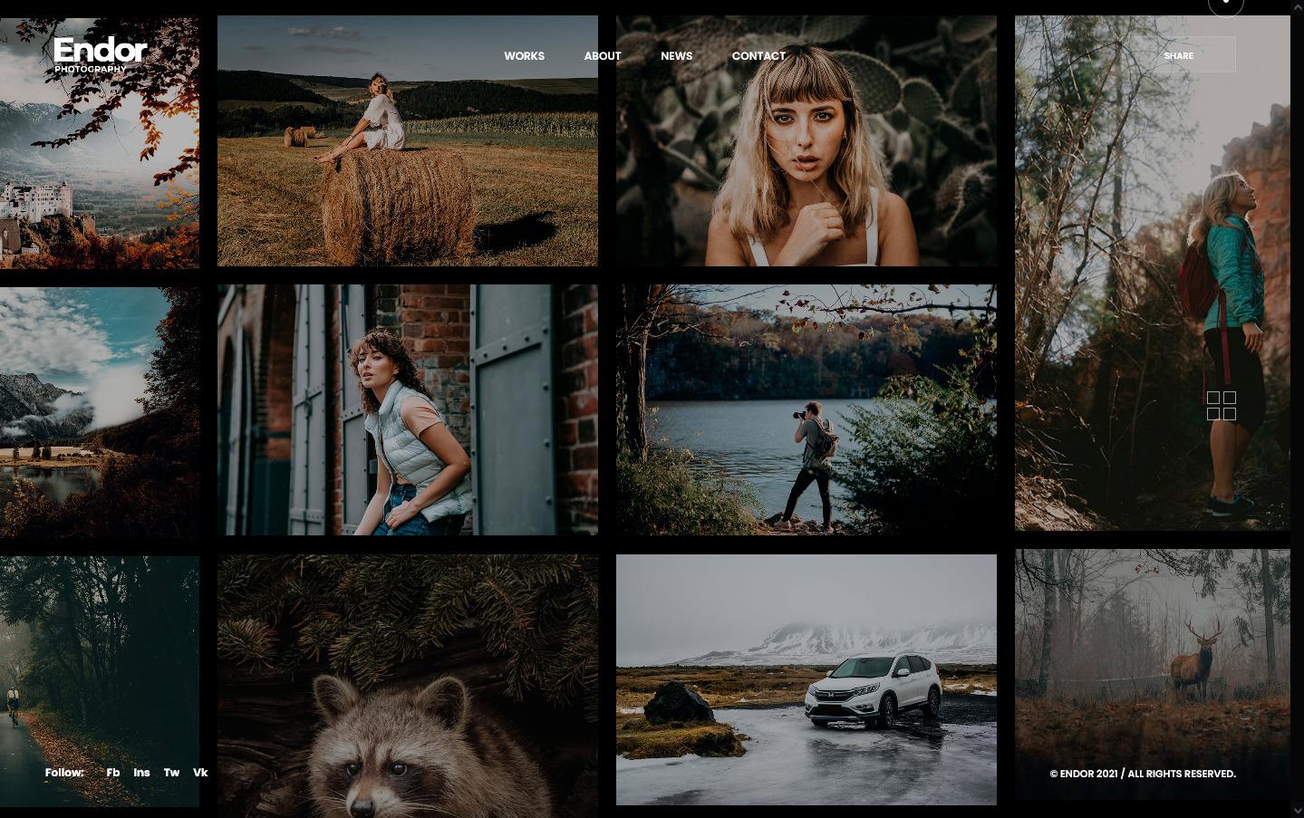 Endor Photography Portfolio WordPress Theme