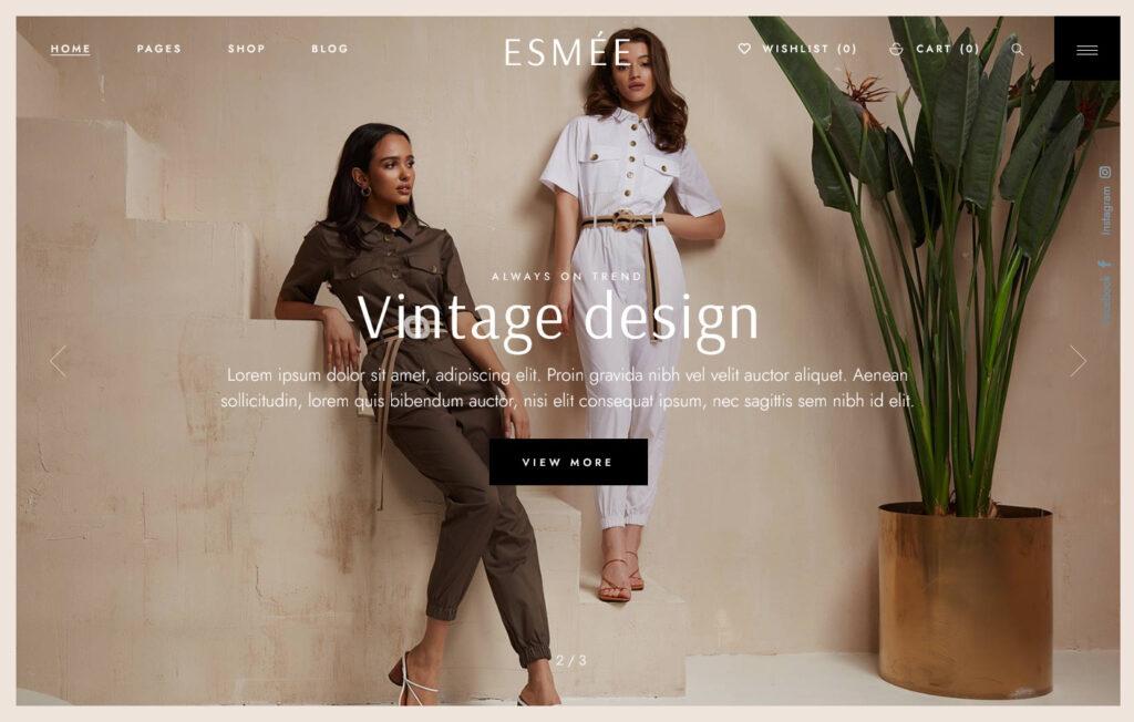 Esmee – Fashion Store WordPress Theme