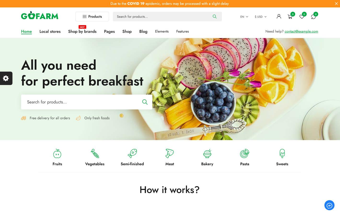 Gofarm Organic Food Shop WooCommerce WordPress Theme