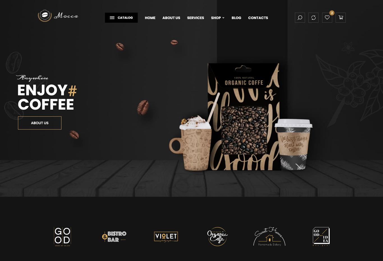 Mocca Coffee Shop and Cafe WordPress Theme