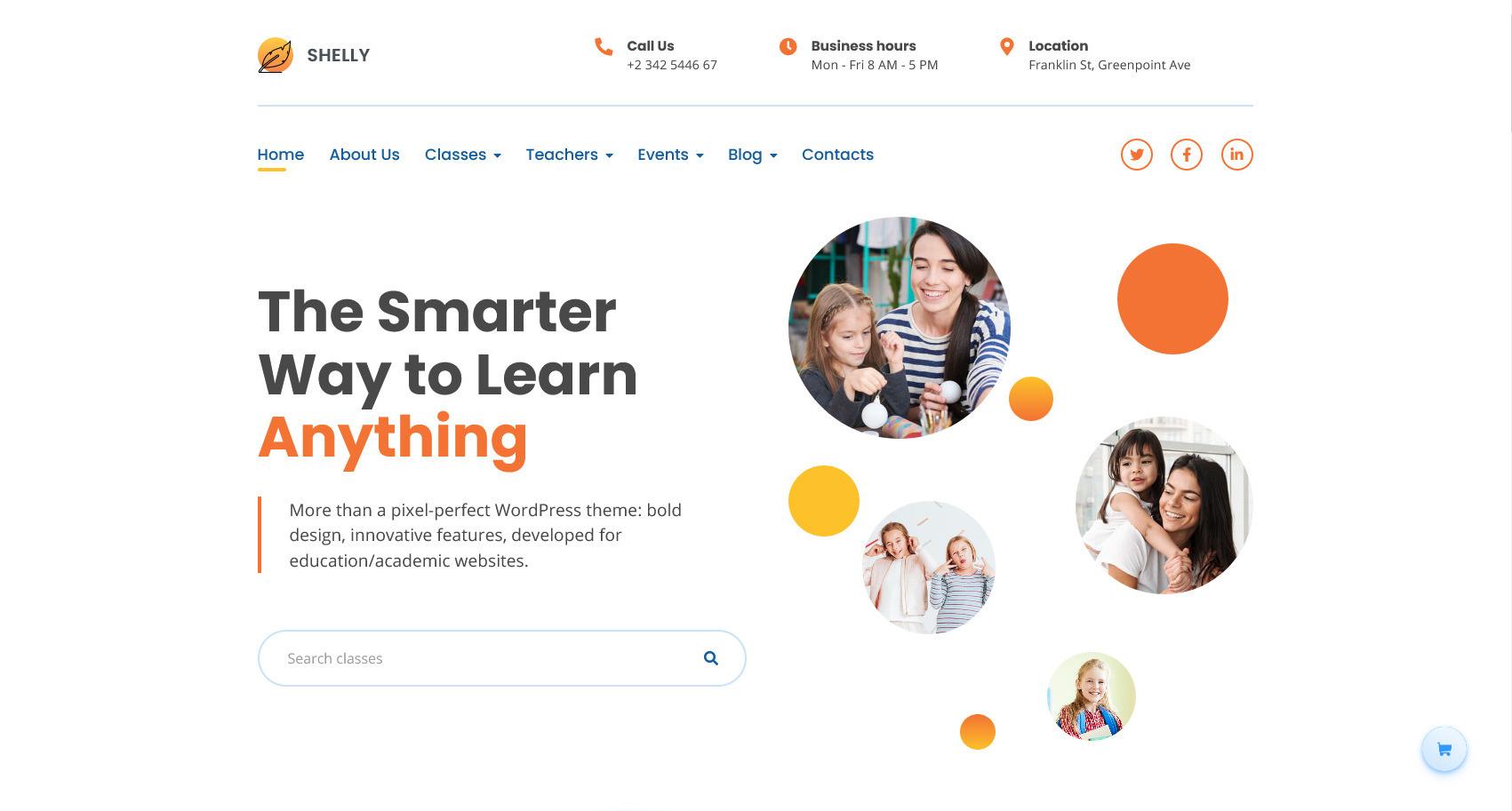 Shelly – Primary School WordPress Theme for WordPress