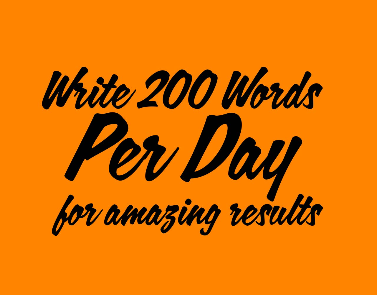 200 Words a Day