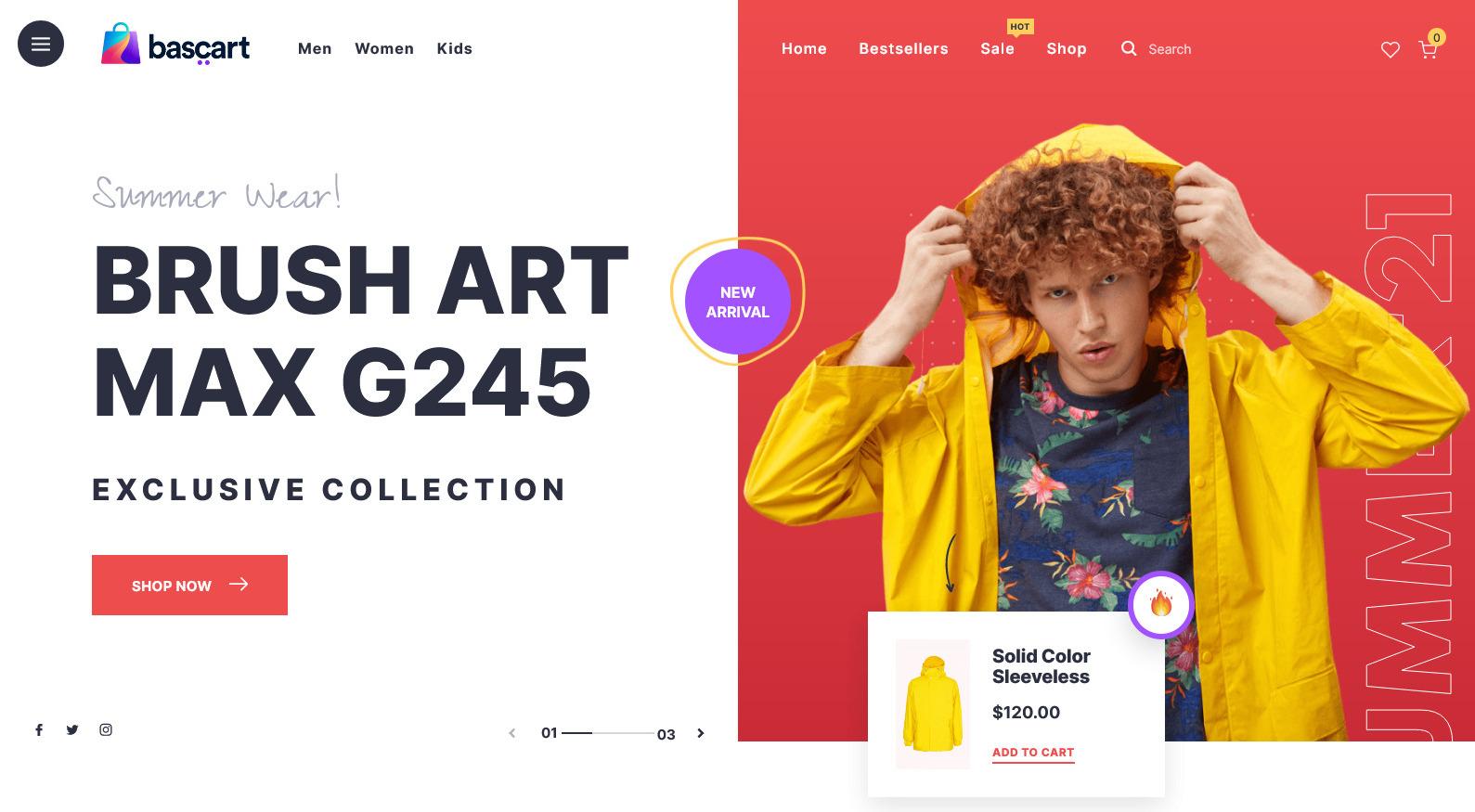 Bascart – WooCommerece WordPress Theme