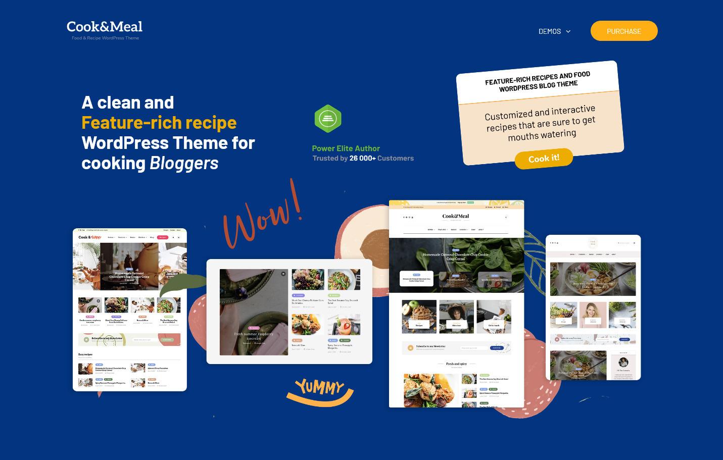 CookAndMeal – Food Recipe WordPress Theme