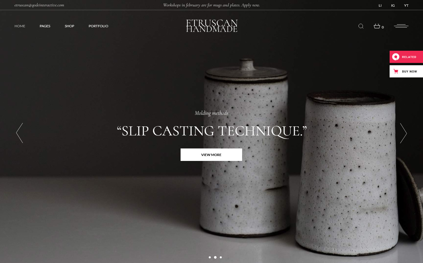 Etruscan – Handmade Pottery Store for Handmade Crafts