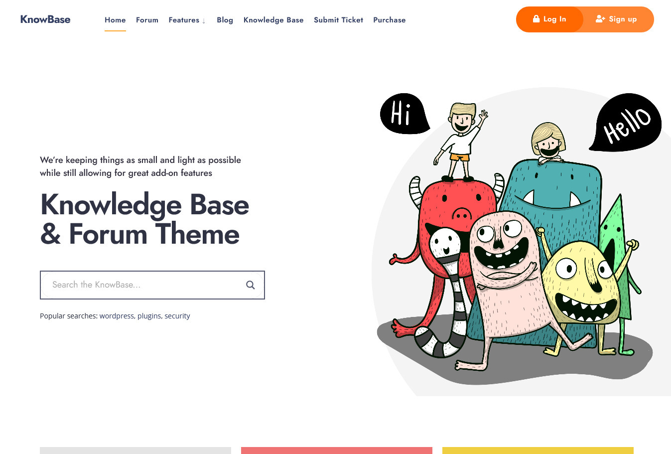 KnowBase WordPress Themes for Knowledge Base Websites