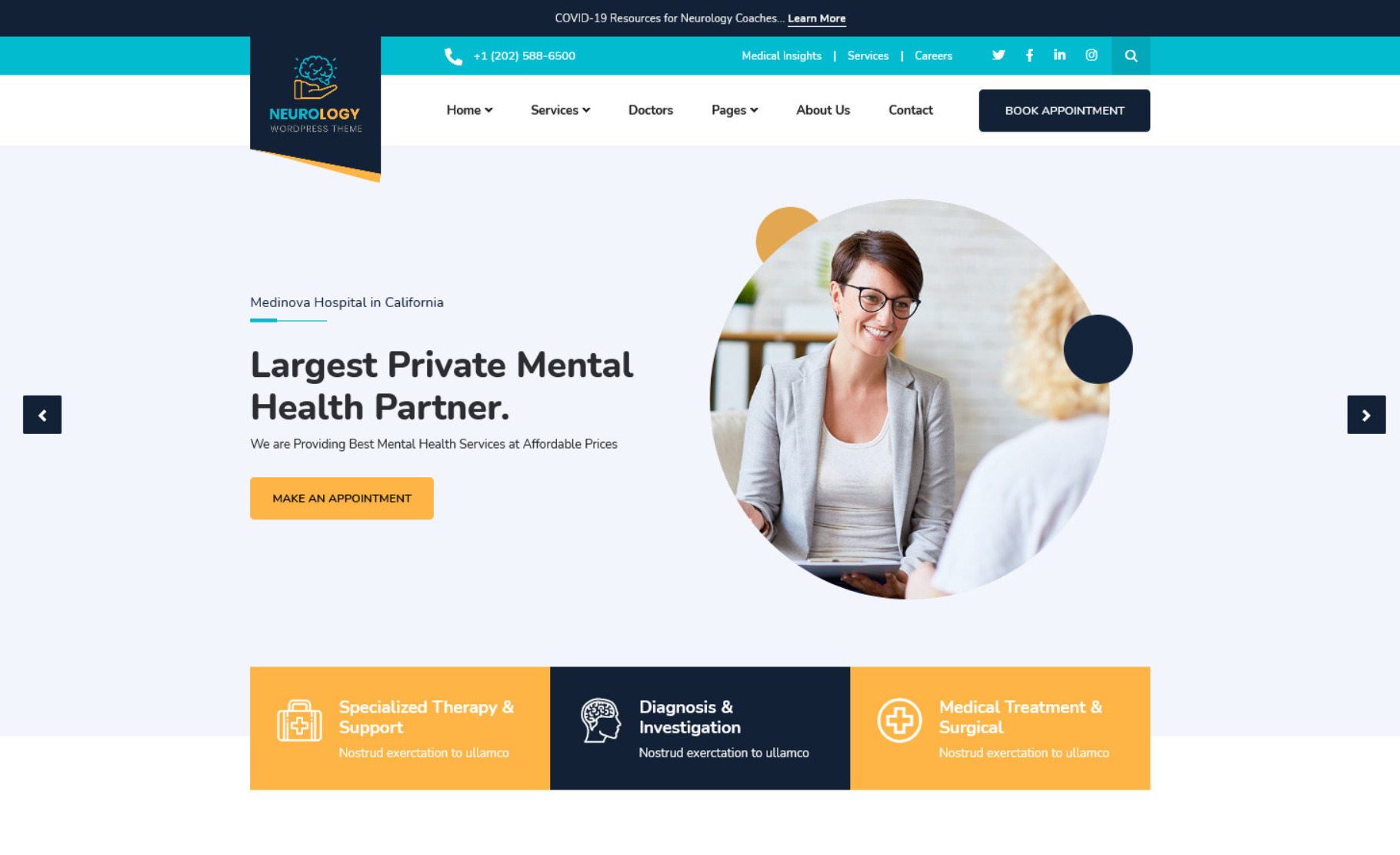 Neurology – Clinical WP Theme for Psychologists