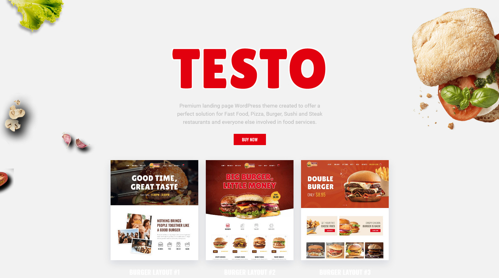 Testo Pizza and Fast Food WordPress Theme