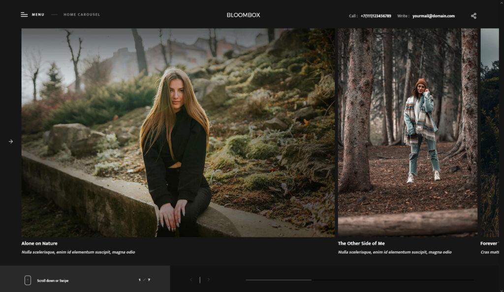 Bloombox Ajax Showcase Photography WordPress Theme