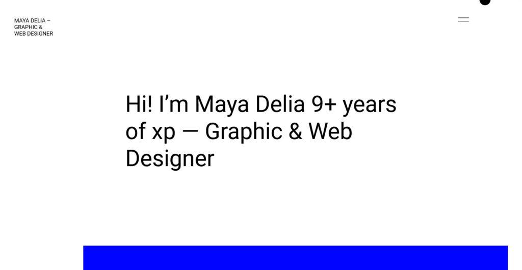 Delia WordPress Theme For Freelancer Preview 1