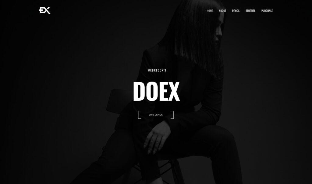 Doex Creative Portfolio WordPress Theme