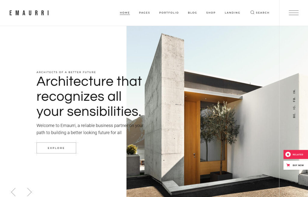 Emaurri Architecture and Interior Design Theme