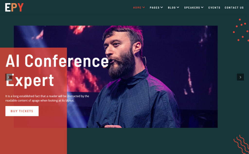Epy Events and Speaker WordPress Theme