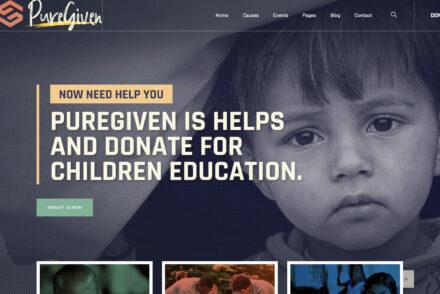 Puregiven Nonprofit Charity WordPress Theme