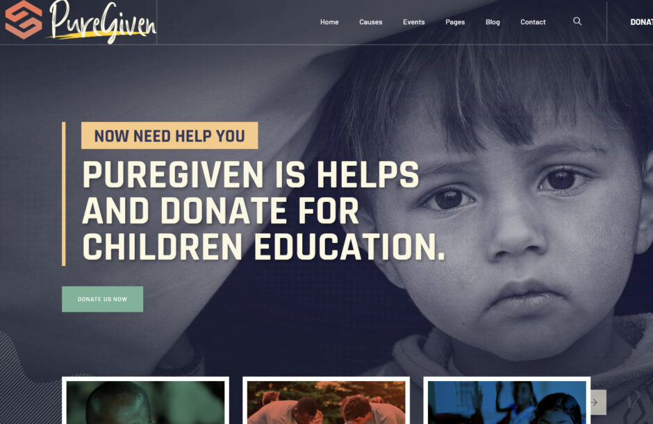 Puregiven Nonprofit Charity WordPress Theme