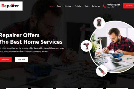 Repairer Handyman Services WordPress Theme